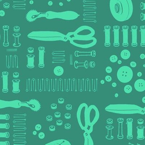 Sewing Tools (turquoise)