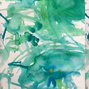 blue green watercolor