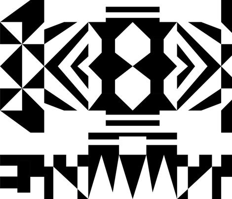 Black & White Tile fabric by magic_marker on Spoonflower - custom fabric