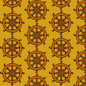 Catherine Wheel on Gold