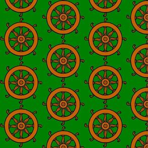 Catherine Wheel on Green