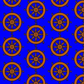 Catherine Wheel on Blue