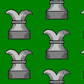 Chess Rook on Green