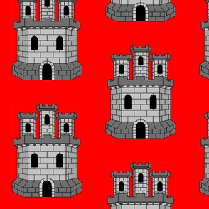 Castle on Red