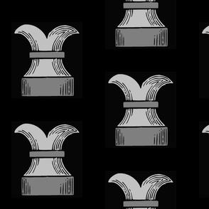 Chess Rook on Black