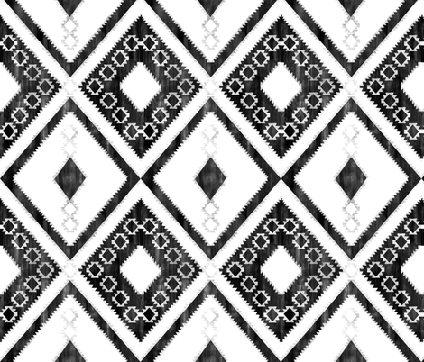 Worrior Black and White fabric by schatzibrown on Spoonflower - custom fabric