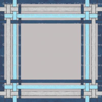 Blue Sapphire plaid on gray