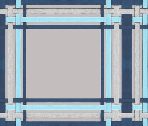 Blue Sapphire plaid on gray fabric by debra_may_himes,_asid on Spoonflower - custom fabric