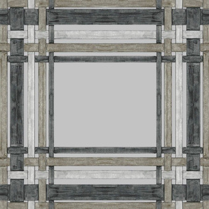Black gray _ Taupe plaid on gray