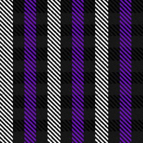 Purple Black and White Woven Look Stripe