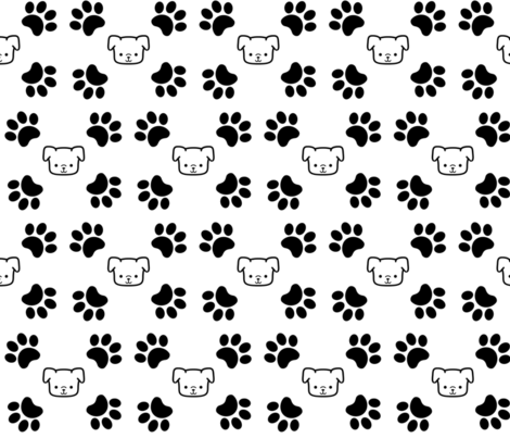 Puppy Paws fabric by happytownart on Spoonflower - custom fabric