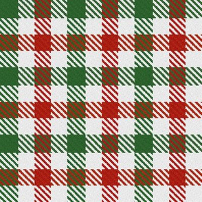 Red White and Green Christmas Plaid