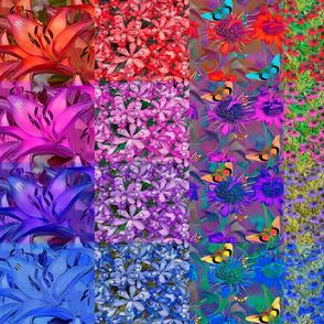 Rainbow quilt2 blueRed Blue 2 FAT