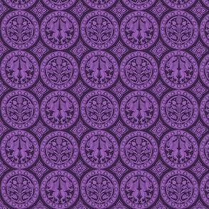 4 Rondels in Purple