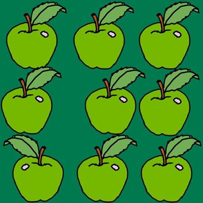 green apples on green