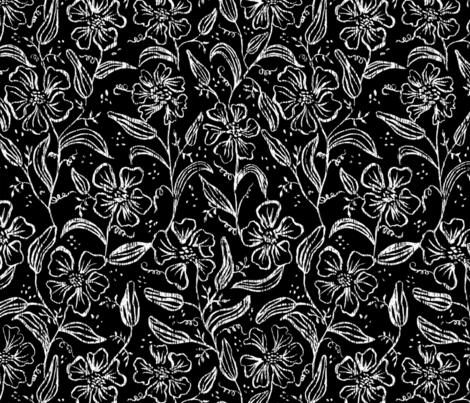 Antique Floral Vine  fabric by lisalarsenart on Spoonflower - custom fabric