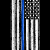 "27"" panel -  minky panel - Thin Blue Line C18BS"