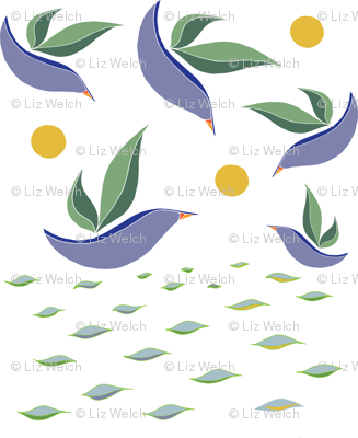 Leaf Birds Swimming and Flying