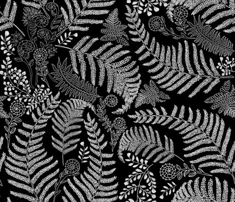Hapu Fiddle Fern fabric by honoluludesign on Spoonflower - custom fabric
