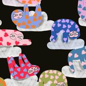 Sleepy sloths on Cloud 9