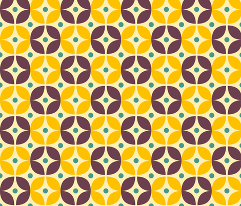 Geometric Pattern: Stylised Flower: Veronica fabric by red_wolf on Spoonflower - custom fabric