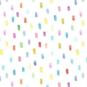 Pastel confetti • watercolor brush strokes pattern for nursery