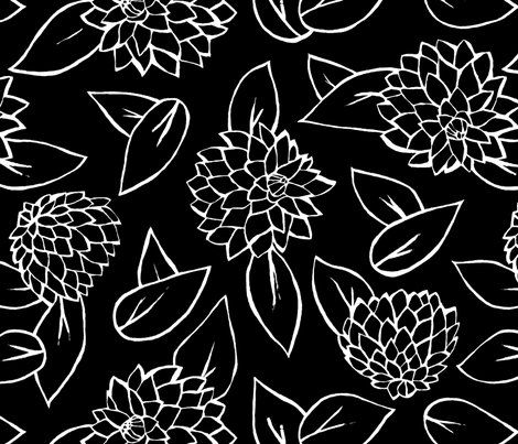 Black_Dahlia fabric by marika_ellen on Spoonflower - custom fabric