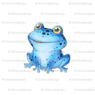 """18"""" Blue Dart Frog Design"""