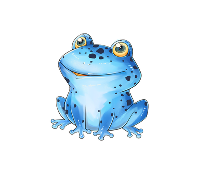 "18"" Blue Dart Frog Design fabric by silveroakdesign on Spoonflower - custom fabric"
