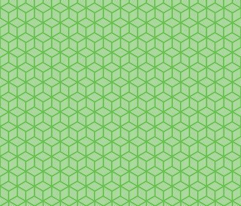 Geometric Pattern: Cube Stripe: Green fabric by red_wolf on Spoonflower - custom fabric