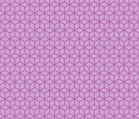 Geometric Pattern: Cube Stripe: Purple fabric by red_wolf on Spoonflower - custom fabric