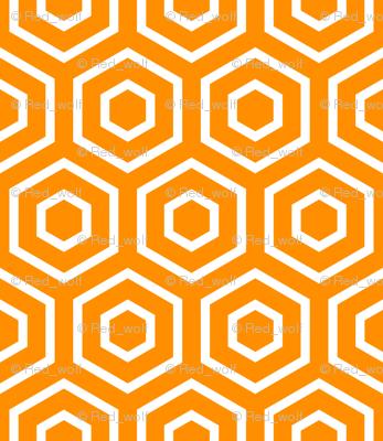 Geometric Pattern: Hexagon Ring: Orange