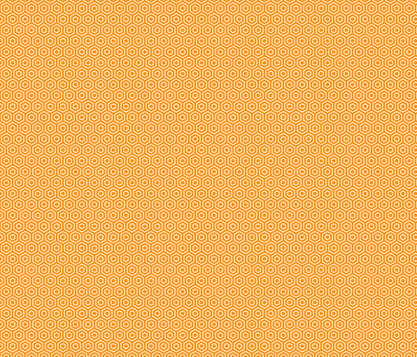 Geometric Pattern: Hexagon Ring: Orange fabric by red_wolf on Spoonflower - custom fabric