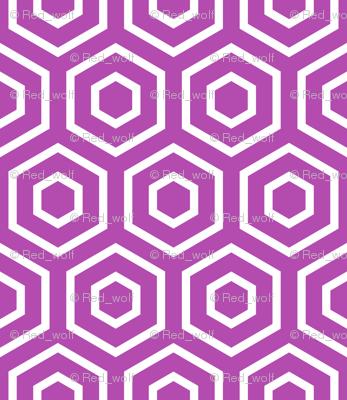 Geometric Pattern: Hexagon Ring: Purple