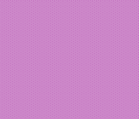 Geometric Pattern: Hexagon Ring: Purple fabric by red_wolf on Spoonflower - custom fabric