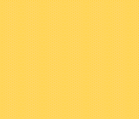 Geometric Pattern: Hexagon Ring: Yellow fabric by red_wolf on Spoonflower - custom fabric