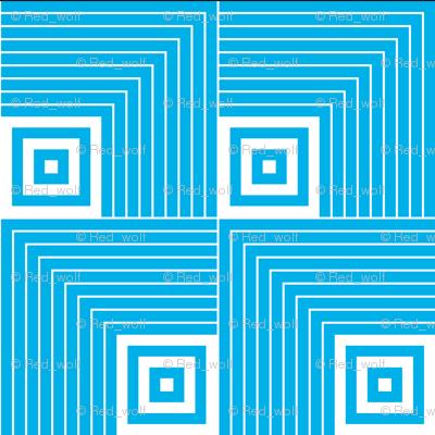 Geometric Pattern: Square Angle: Blue