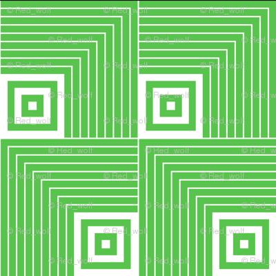 Geometric Pattern: Square Angle: Green