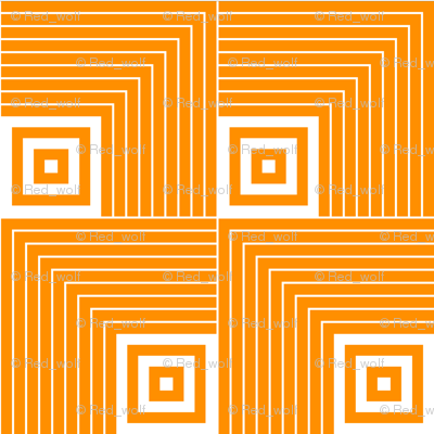Geometric Pattern: Square Angle: Orange