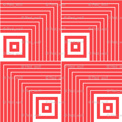 Geometric Pattern: Square Angle: Red