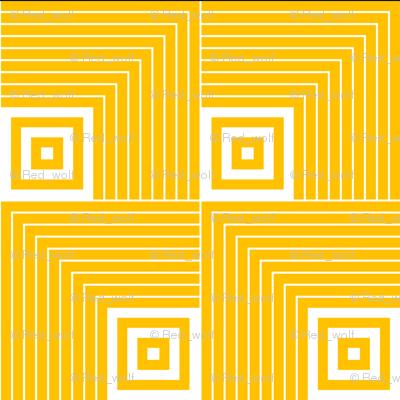 Geometric Pattern: Square Angle: Yellow