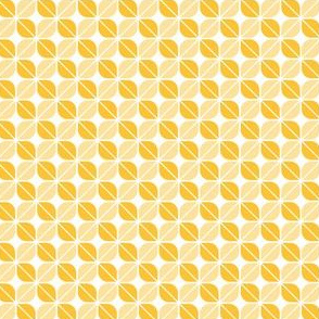 Geometric Pattern: Leaf: Yellow/White