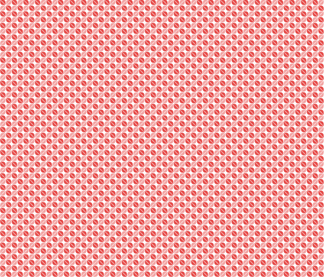 Geometric Pattern: Leaf: Red/White fabric by red_wolf on Spoonflower - custom fabric