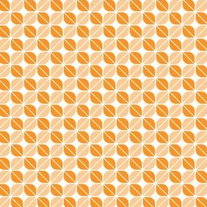 Geometric Pattern: Leaf: Orange/White
