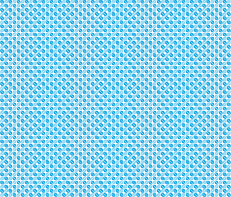 Geometric Pattern: Leaf: Blue/White fabric by red_wolf on Spoonflower - custom fabric