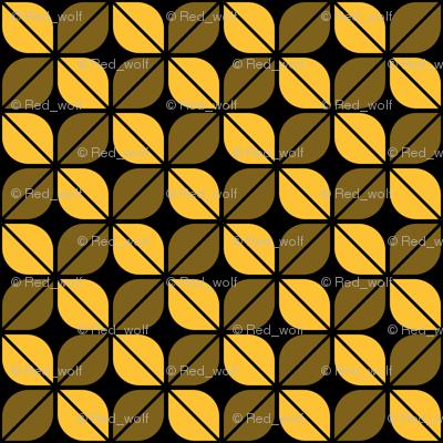 Geometric Pattern: Leaf: Yellow/Black