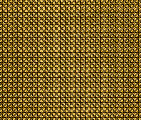 Geometric Pattern: Leaf: Yellow/Black fabric by red_wolf on Spoonflower - custom fabric