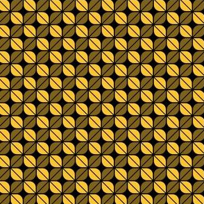 Geometric Pattern: Leaf: Yellow/Black