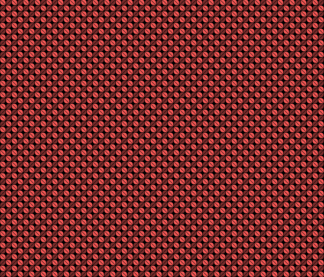 Geometric Pattern: Leaf: Red/Black fabric by red_wolf on Spoonflower - custom fabric