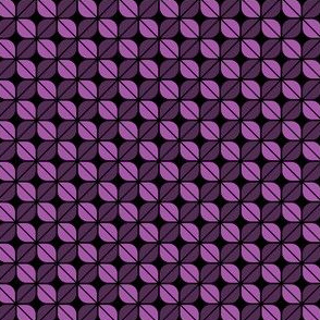 Geometric Pattern: Leaf: Purple/Black